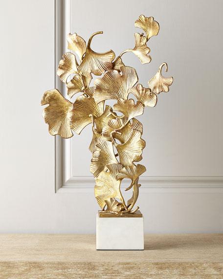 JohnRichard Collection Floating Ginkgo Leaves Sculpture
