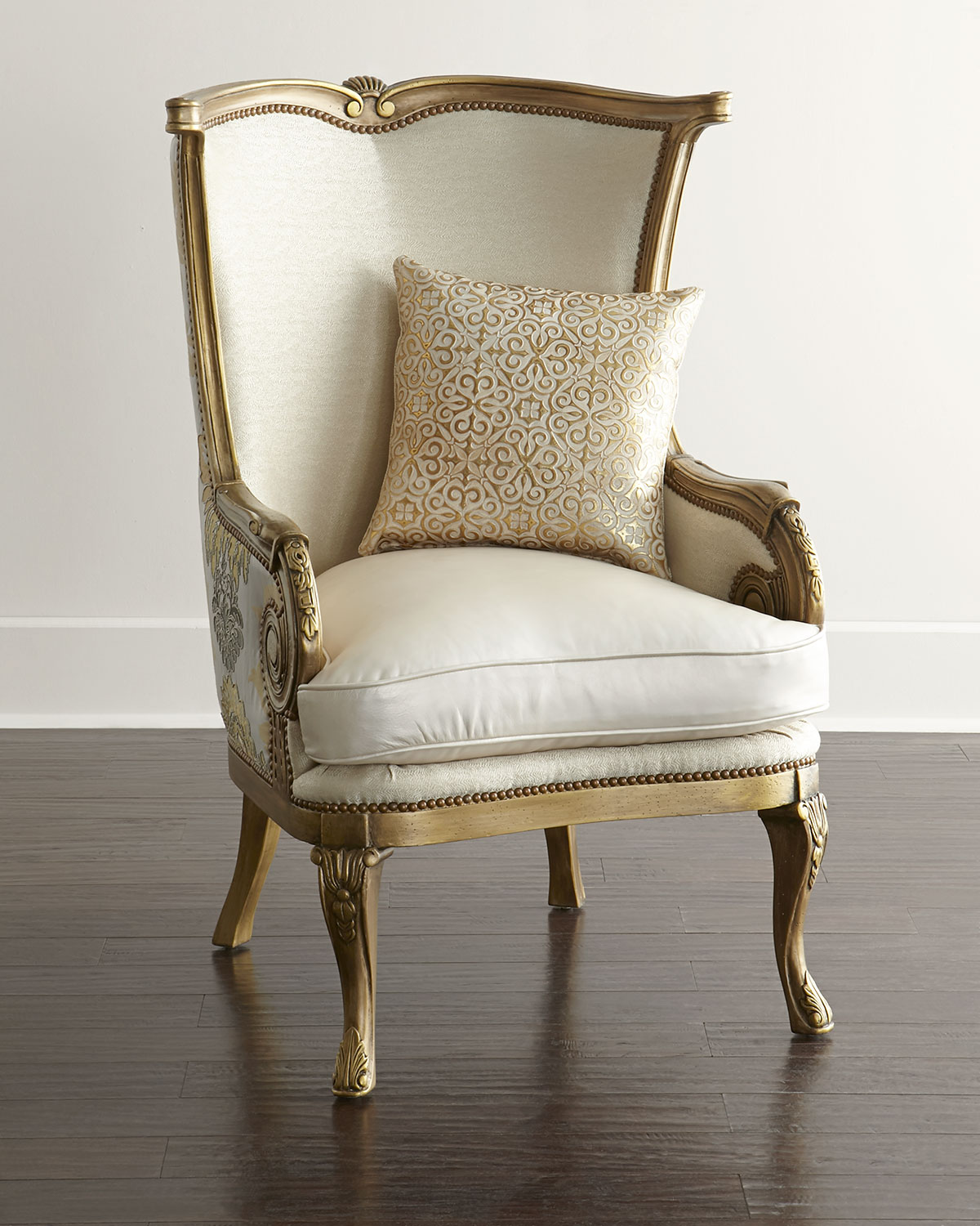 Damask Chair Golden Damask Chair