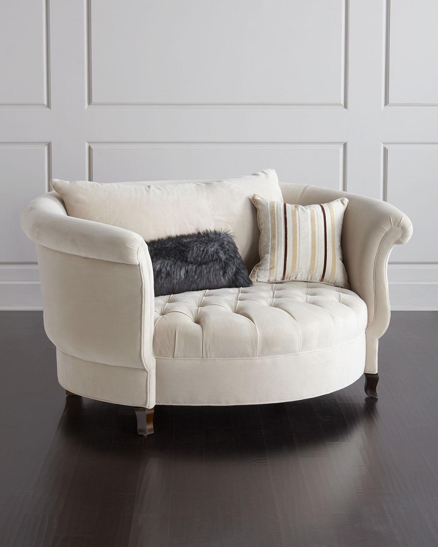 harlow cuddle chair high egg haute house ivory neiman marcus