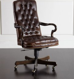 massoud blevens tufted leather office chair [ 1200 x 1500 Pixel ]