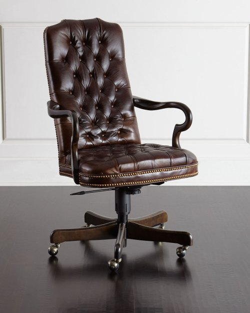 small resolution of massoud blevens tufted leather office chair