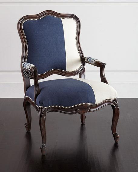 Massoud Madison  Michael Colorblock Bergere Chairs