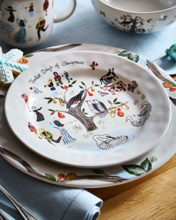 Juliska Twelve Days Of Christmas Dessert Salad Plate Neiman Marcus