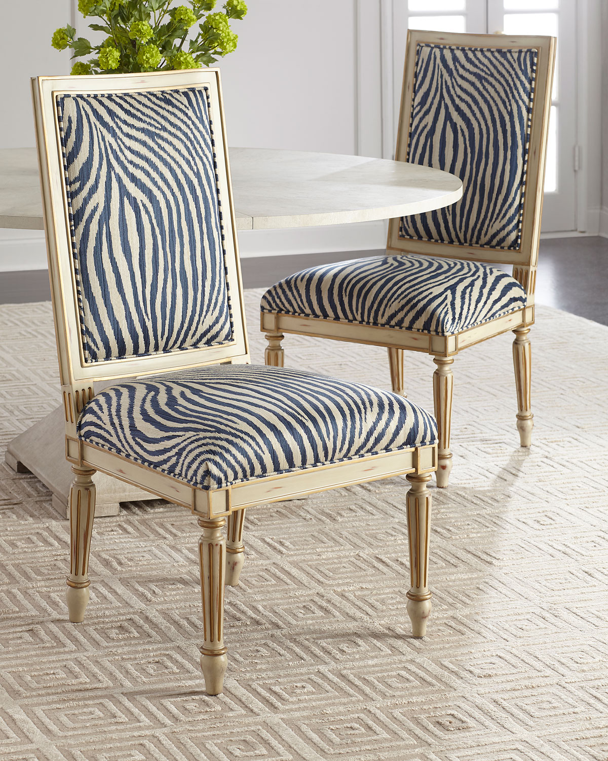 zebra dining chairs for autism john richard collection side chair neiman