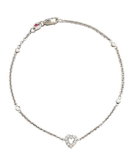Roberto Coin 18k White Gold Diamond XOXO Charm Bracelet