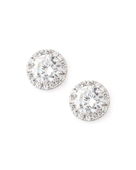Fantasia by DeSerio Pave Cubic Zirconia Stud Earrings