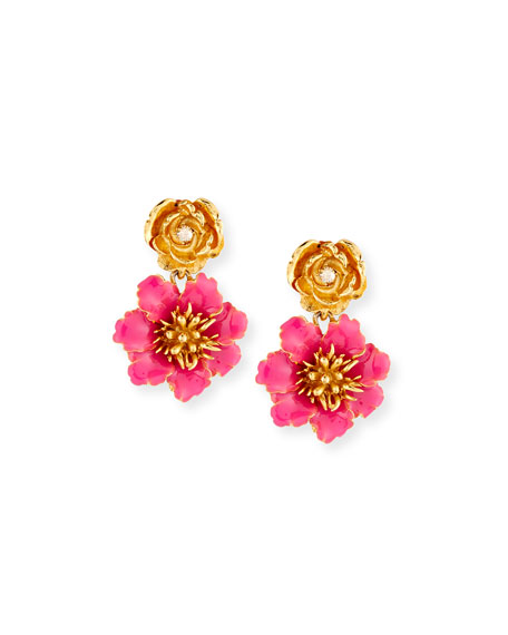 Gilded Floral Clip-On Earrings