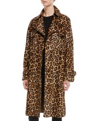 Michael Kors Collection Leopard-Print Double-Breasted ...