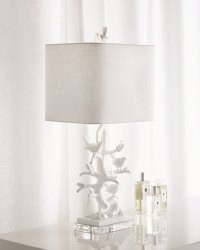 White Bird-on-Branch Lamp | Neiman Marcus