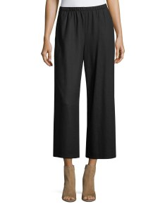 Boiled wool jersey wide leg cropped pants also eileen fisher neiman marcus rh neimanmarcus