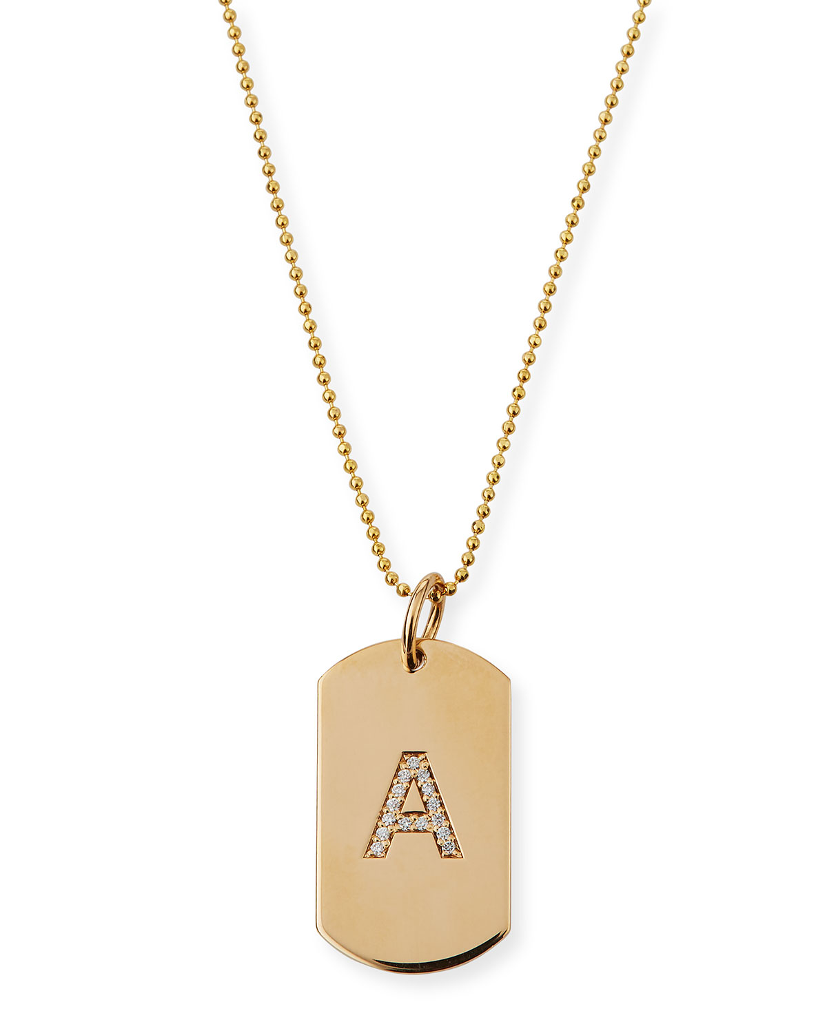 personalized 14k gold pave