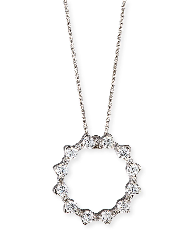 Roberto Coin Alternating Diamond Circle Pendant Necklace