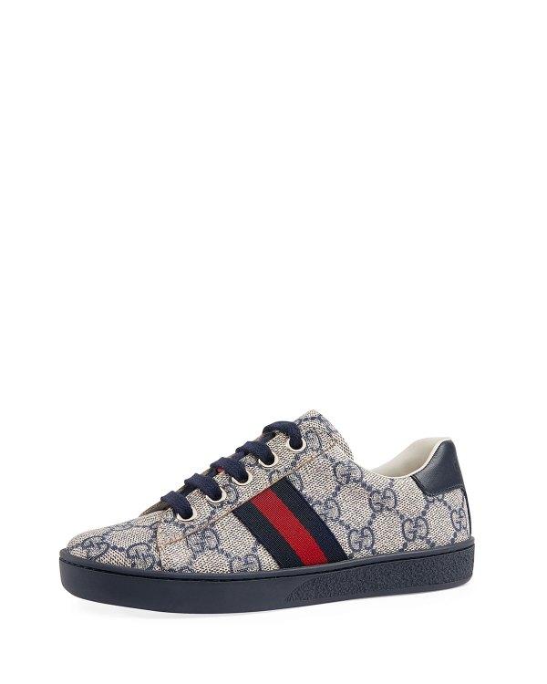 Gucci Ace Gg Tennis Shoe Toddler Kids Neiman Marcus