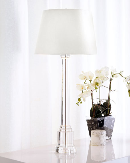 Crystal Candlestick Buffet Lamp