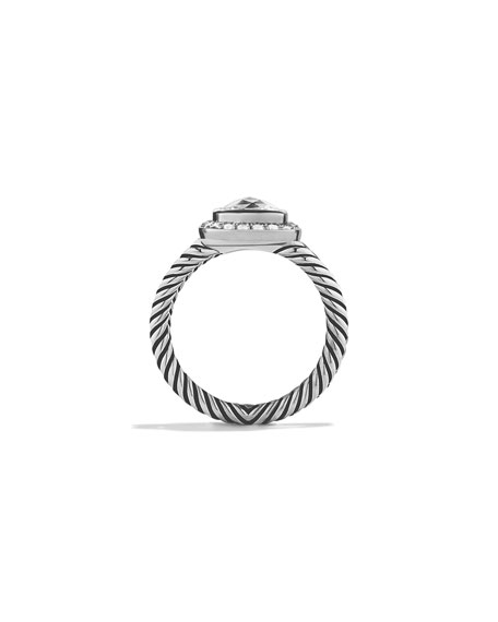 David Yurman Petite Albion Ring with White Topaz and