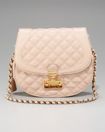 Marc Jacobs Saffron Flap-Front Quilted Saddle Bag