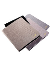 Graphic Image Inc Suede Crocodile-Embossed iPad Case