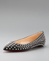 Christian Louboutin Pigalle Spiked Ballerina