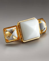 KARA by Kara Ross Agate Triple-Stone Ring