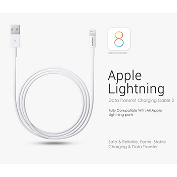 3Ft. iPhone 4, 5/6 Pisen Cable + 10Ft. Color Cable + USB