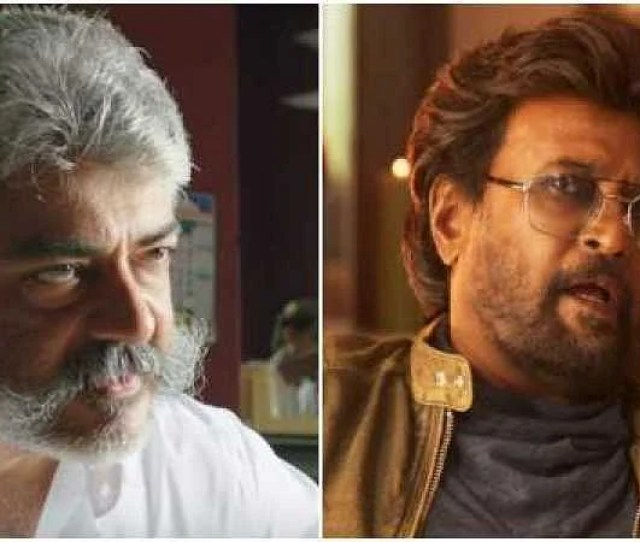 Clash Of The Titans Ajith In Viswasam Left And Rajinikanth In Petta Photo Youtube Screengrab