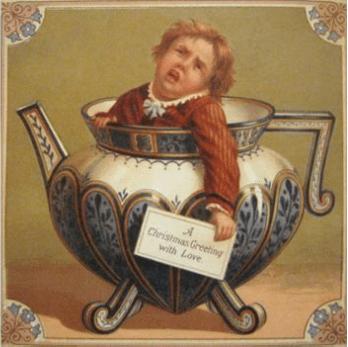 Victorian Christmas Cards Featured Nightmarish Snowmen