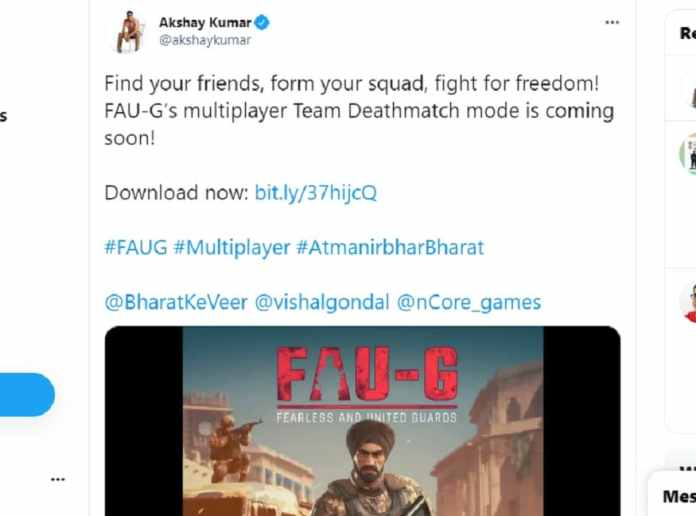 Akshay Kumar has tweeted about the new mode coming in FAU-G.