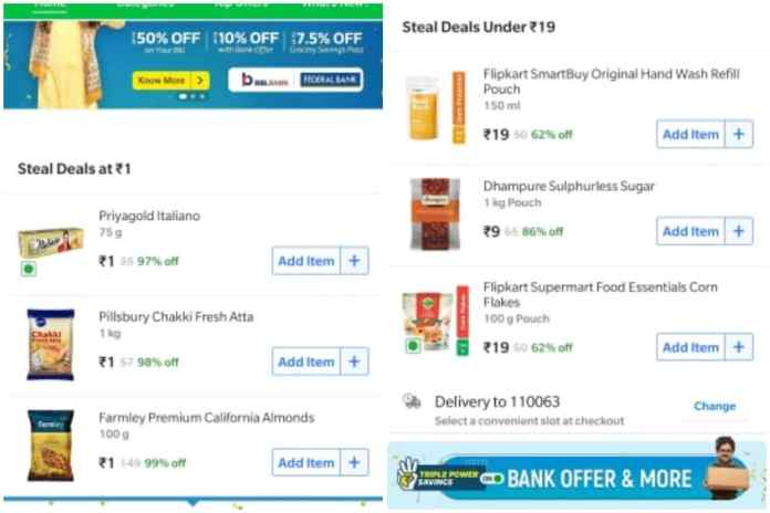 Go to Flipkart's Grocery Deal, what you can find today.