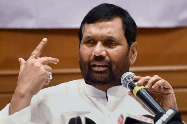 File photo of Union Minister and LJP chief Ram Vilas Paswan.