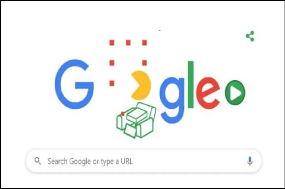 A screengrab of Friday's Google doodle.