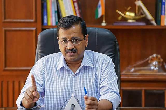 File photo of Delhi chief minister Arvind Kejriwal. (PTI)