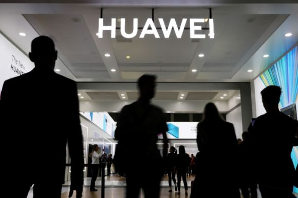 FILE PHOTO: The Huawei logo is pictured at the IFA consumer tech fair in Berlin, Germany. (Reuters)
