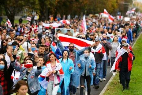 Belarus Detains 500 At Weekend Anti-government Protests