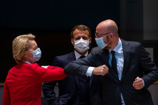 EU Council President Michel Out Of Quarantine