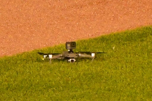 Drone Lands In Outfield At Wrigley Field, Causing Delay