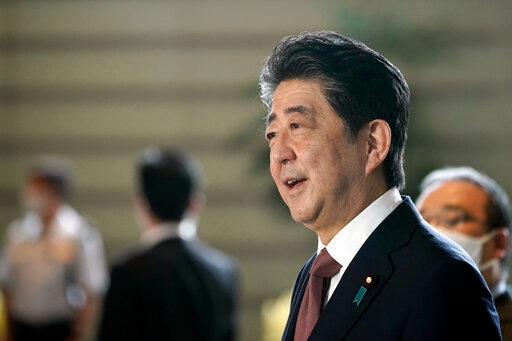 Japan's Ex-PM Abe Visits Controversial Tokyo Shrine