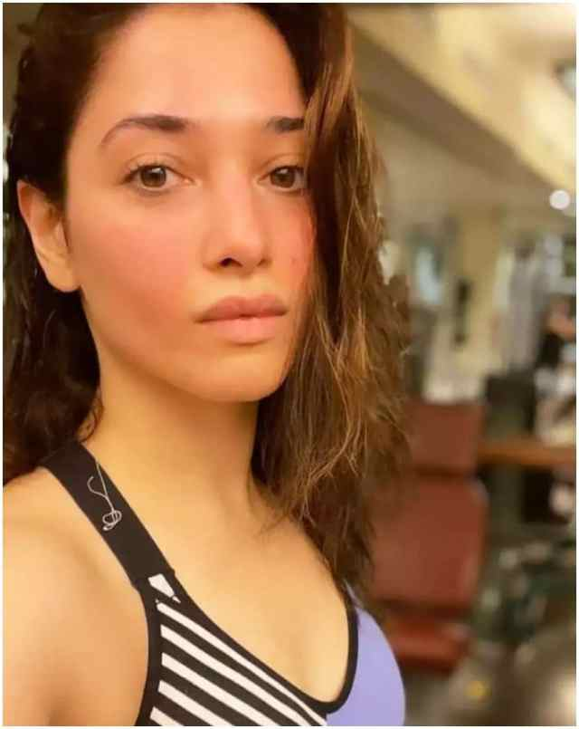 Tamannaah Bhatia is giving her fans some major fitness goals with her workout selfie.