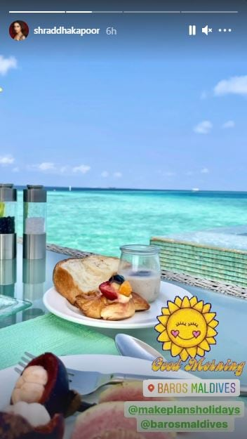 Shraddha Kapoor's Breakfast Photo from Maldives will Make You Crave a Vacay