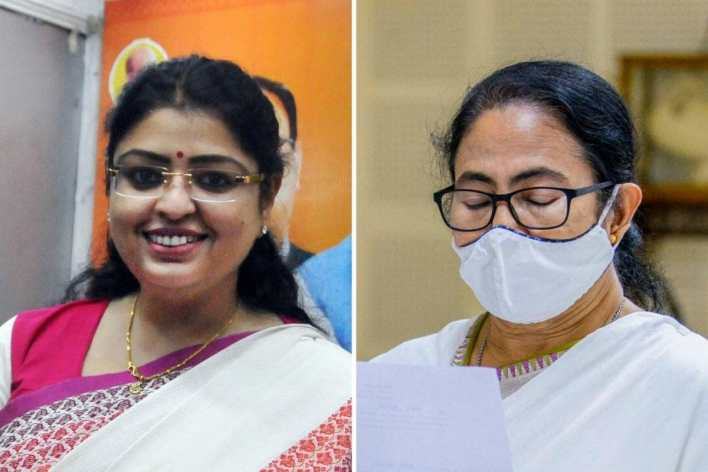Both West Bengal chief minister Mamata Banerjee and her opponent Priyanka Tibrwal are lawyers. (PTI)