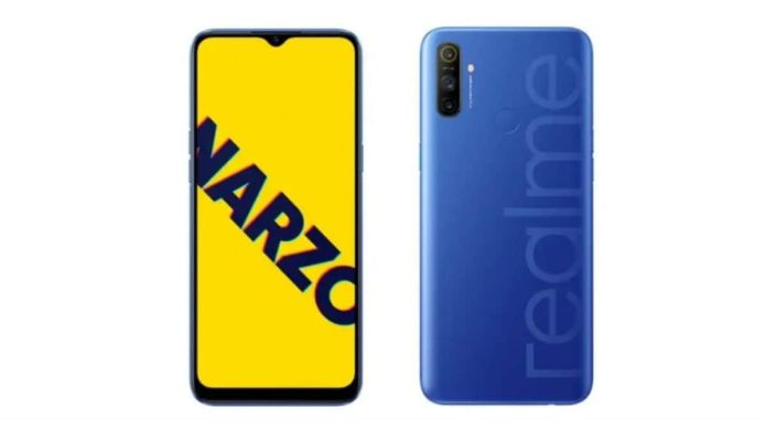 Realme Narzo 10A স্পেসিফিকেশন - ডুয়াল সিম Realme Narzo 10A-তে Android 10 অপারেটিং সিস্টেমের উপরে চলবে Realme UI । এই ফোনে ৬.৫ ইঞ্চি HD+ ডিসপ্লে থাকছে, যার পিক্সেল রেজোলিউশন ১৬০০x৭২০। ফোনের ভিতরে রয়েছে MediaTek Helio G70 চিপসেট, 3GBRAM আর 32GB স্টোরেজ। মাইক্রো এসডি কার্ডের সাহায্যে স্টোরেজ বাড়িয়ে নিতে পাড়বে গ্রাহকরা। দুটি রঙে পাওয়া যাবে ফোনটি - সাদা আর নীল।