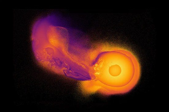 Massive space rock smash-up with Uranus recreated in a riot of colour