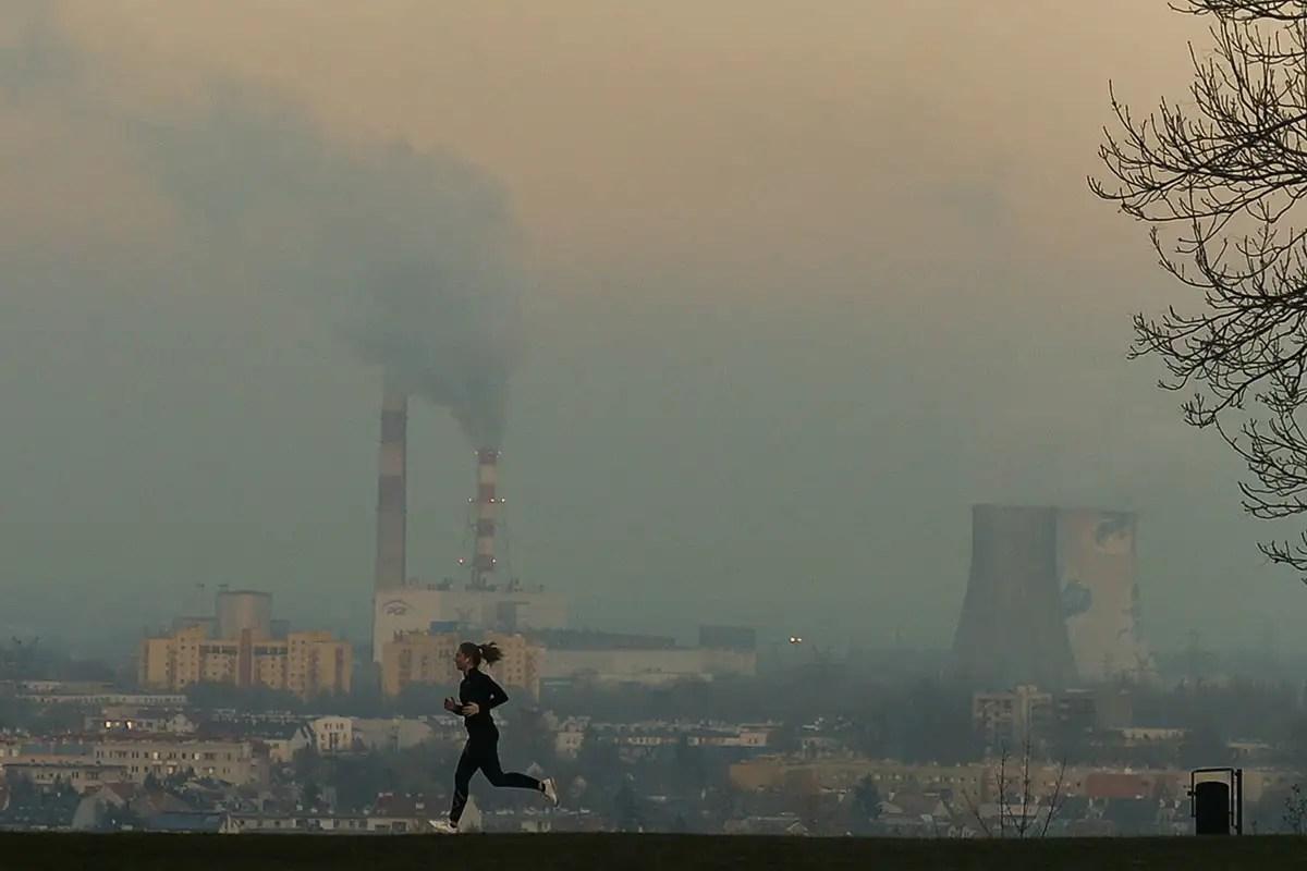 Air pollution in Krakow, Poland is high above European Union limits