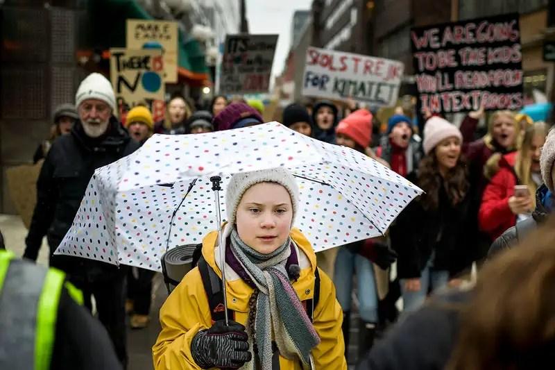Activist Greta Thunberg takes part in demonstrations in Stockholm, Sweden