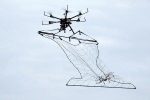 drone with net