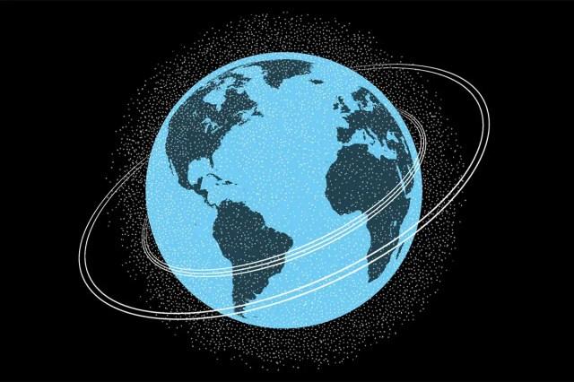 spinning Earth artwork