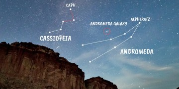 How to find Andromeda  a spiral galaxy you can see with the naked eye
