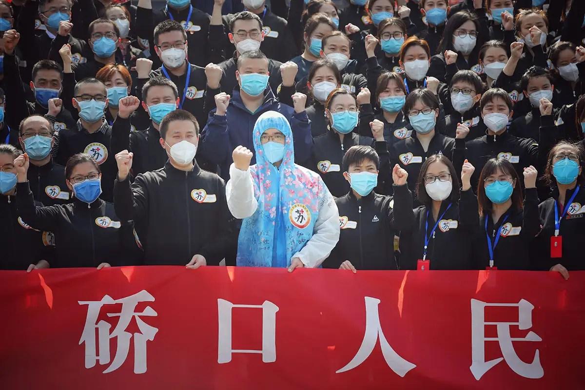 medics in Jiangsu province