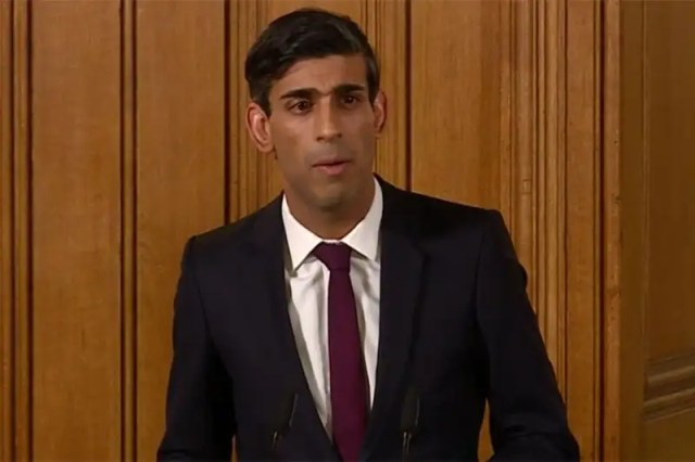 UK Chancellor Rishi Sunak