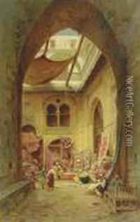 The Carpet Sellers oil painting reproduction by Hermann ...