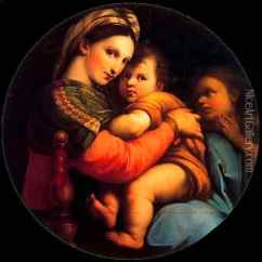 Madonna Of The Chair Lite Fishing On Copy From Rafaello Oil Painting Reproduction Anton Raphael Mengs